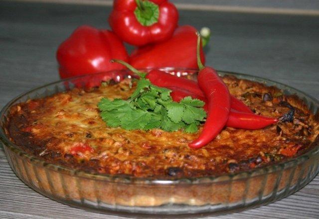 Chili con carne -piiras